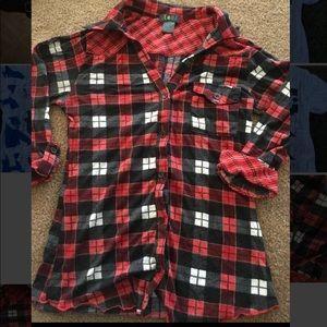 Cute Sexy Red Plaid Lolli Medium Shirt